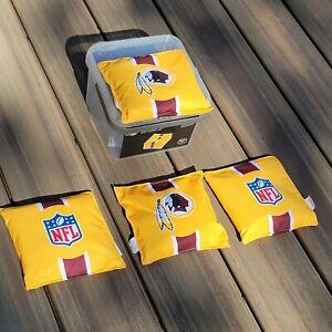 Official NFL WASHINGTON REDSKINS Bean Bag - Set of 4 - Regulation Corn Hole NOB