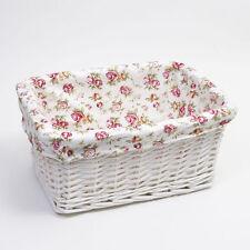 Lined Hamper Home Storage Baskets