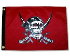 """Pirate Caribbean 12"""" x 18"""" Two Sided Flag 200 denier In/Outdoor Grade Poly Usa"""
