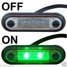 HELLA TYPE LED FLUSH FIT KELSA LIGHT BAR MARKER LAMP LIGHT 12v 24v GREEN LAML004