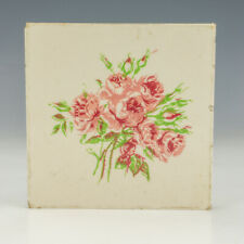 Carter Tiles - Poole Pottery - Rose Decorated Tile