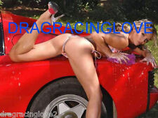 "SUPER ULTRA Hot ""Car Wash"" Car Babe and Red Ferrari ""Pin-UP"" PHOTO!"