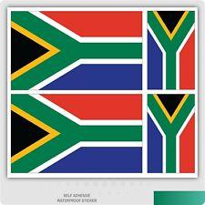 4 x South African Flag Vinyl Car Van iPad Laptop Self-Adhesive Sticker