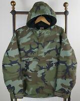CARHARTT WIP Size Medium Nimbus Jacket Woodland Camo Fleece Lined 1/2 Zip $198