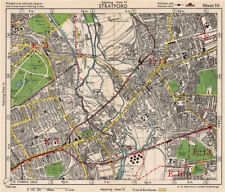 NE LONDON. Stratford Bow Hackney Wick West Ham Old Ford Plaistow.BACON 1948 map