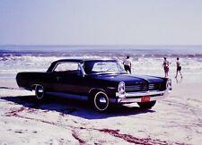 Vintage 1960's Slide 1964 Black Pontiac Catalina on the Beach
