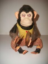 Vntage Jolly Chimp Mechanical Toy Monkey with Cymbals