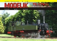 ORIGINAL PAPER-CARD MODEL KIT - Prussian steam locomotive -Tendrzak from 1893
