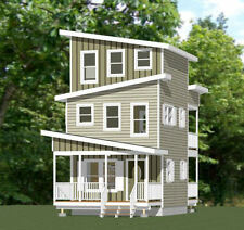 16x16 House -- 671 sqft -- PDF Floor Plan -- Model 22C