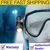 ORCATORCH D560 Mini Scuba Dive Light Headlamp Rotary Switch Underwater Torch