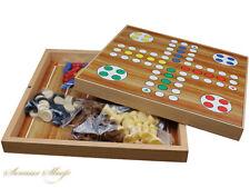 5 in 1 Spielesammlung  Mühle, Dame, Ludo , Backgammon, Schach