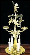 Gold Angels Chime Star Rotary Metal Christmas Candle Holder with Candles