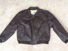 Mens Vintage Spw Lorton Bomber Leather Pilot Jacket Large