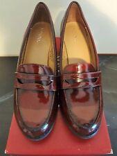 Merona Bernadette Burgundy Heeled Loafers Size 7.5