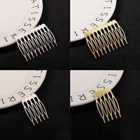 10pcs Women Golden Silver Metal Hair Comb Clip Hairpin Wedding Bride-Hair Brush