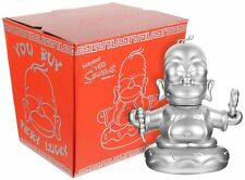 KidRobot Homer Simpson Buddha 7 inch Silver Vinyl Figure 25th Anniversary MINT