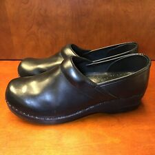 LL Bean Professional Leather Stapled Clogs Black Women's US Size 11 Slip On