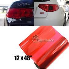 """1 piece of 12x48"""" Red Vinyl Sheet Film Sticker For Car Healight Fog Tail Lights"""