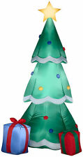 CHRISTMAS SANTA 6.5 FT TREE WITH PRESENTS AIRBLOWN INFLATABLE YARD DECORATION