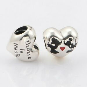 New Authentic PANDORA S925 ALE Disney Minnie Mouse & Mickey Mouse Kiss Charm