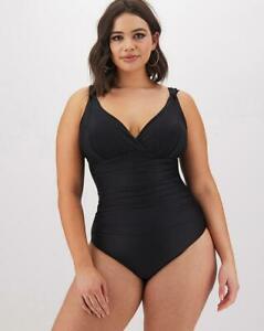 MAGISCULPT Shaping Swimsuit Lose Up To An Inch - Longer Length Black UK 24