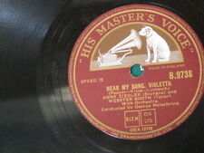 78rpm ANNE ZIEGLER & WEBSTER BOOTH hear my song violetta / loves last word is sp