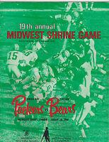 AUG 19 1968 GREEN BAY PACKERS vs CHICAGO BEARS NFL FOOTBALL PROGRAM (SHRINE GAME