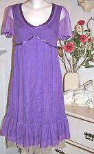 Noa Noa Chiffon Tüll - Kleid  Kurzarm Dress   Netville   Memoria  size: S  Neu