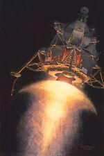Alan Bean ARMSTRONG, ALDRIN & AN AMERICAN EAGLE giclee Apollo 11 Lunar Module