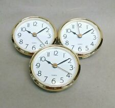 "3-PACK!! CLOCK FIT UP PLAIN White Dial, arabic, Insert 2 7/8"" dia, NEW, (#272)"