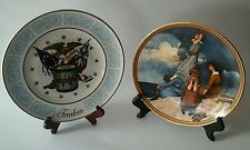 Norman Rockwell Decor Collectors Plate Waiting on The Shore  & 1974 Freedom