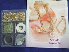 BEADS/FINDINGS  AND INSTRUCTIONS TO COMPLETE NECKLAC/EARRINGS/BRACELET JEWLERY