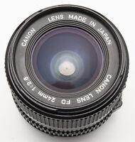 Canon Lens FD 24mm 24 mm 1:2.8 2.8