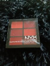 NYX Cosmetics Pro Lip Cream Palette The REDS Brand New AUTHENTIC