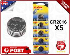 CR2016 3V Lithium Cell Button Battery KODAK ULTRA Watch Camera Battery Bulk x 5