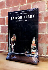 SAILOR JERRY SPICED RUM Vintage Promo Chalk Board Sign Breweriana Man Cave BN&S