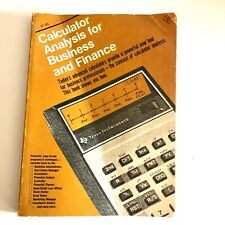 Calculator Analysis For Busniess and Finance 1977 Paperback Texas Instruments