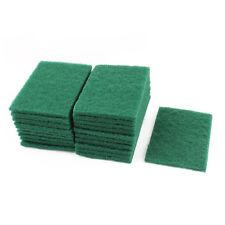 Sponge Kitchen Bowl Dishwash Clean Scrub Cleansing Pads 20pcs Green  W8Y4