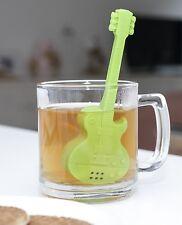 Kikkerland Green Silicone Rockin' Guitar Tea Infuser Loose Leaf Herbal Strainer