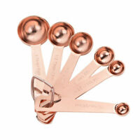 6pcs Rose Gold Stainless Steel Measuring Spoons Baking Supplies Cooking Tools