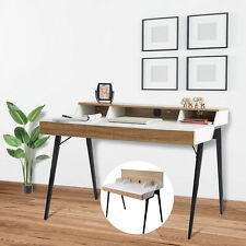 KARMAS Wooden Computer Desk Working Writing PC Laptop Table Home Office 2 Drawer