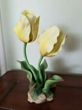 "Andrea by Sadek porcelain flower figurine ""Yellow Tulips"""