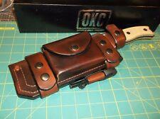 "OKC USA RAT-7"" 1095 HCS #8604 12.5"" Micarta, w/ Custom USA Made Leather Sheath"