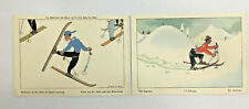 2 x Vintage SAMIVEL Cartoon Postcards French