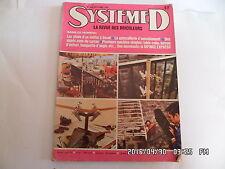 SYSTEME D N°369 OCTOBRE 1976 BANQUETTE D'ANGLE MOBILIER MODERNE     G56