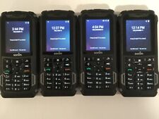LOT OF 4 TESTED BLACK RUGGEDIZED VERIZON SONIM XP5 XP5700 4GB LTE PHONES H20F