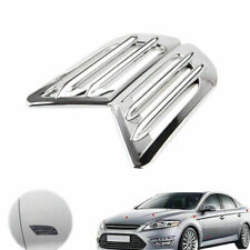 2Pcs Chrome Exterior Side Air Intake Flow Vent Fenders Stickers Universal Car