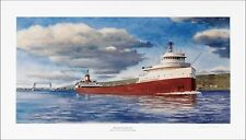 Edmund Fitzgerald Painting limited edition print by Donald Esse