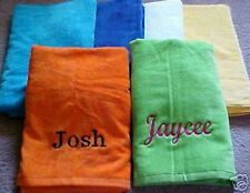Pool or Beach Towel - Embroidered, Personalized