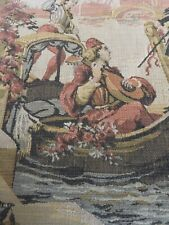 "Vintage Tapestry Runner 36"" X 18"" Venice Scenery"